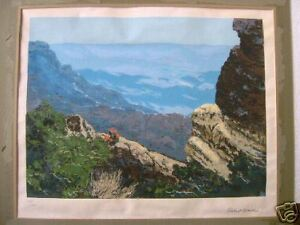 ROBERT WOOD LITHOGRAPH - LIMITED EDITION - SIGNED WITH PENCIL
