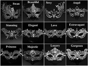 silver collection laser cut venetian mardi gras masquerade masks