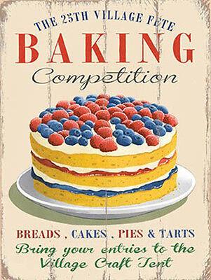 Cake Vintage Food Medium Metal Tin Sign Cafe Restaurant Kitchen Home Baking