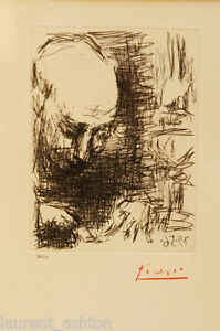 PICASSO-HAND-SIGNED-ETCHING-AND-DRYPOINT-CUBIST-PORTRAIT-OF-MAX-JACOB-1956