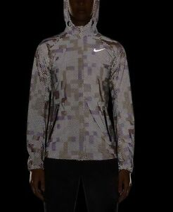 Details about Nike Shield Flash Max Reflective Running Jacket CHOOSE SIZE 686977 011 3M