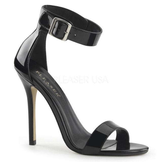 "3/"" Black Slip On Heels Mens Drag Crossdresser Tranny Shoes Womans size 13 14 15"