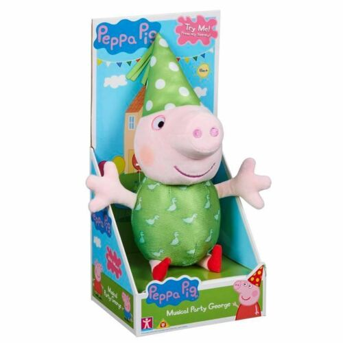 George Peppa Pig Peppa/'s Musical Party Soft Plush Toy Doll with Sounds