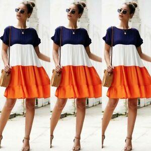 Short-Sleeve-Maxi-Summer-Sundress-Womens-Dress-Floral-Evening-Casual-Dresses