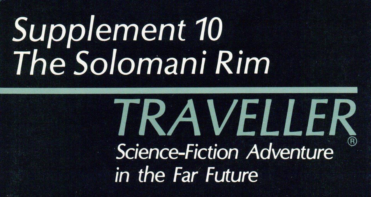 Supplement 10 Solomani Rim, Original Traveller, GDW, 1500+ Pages MegaExtras