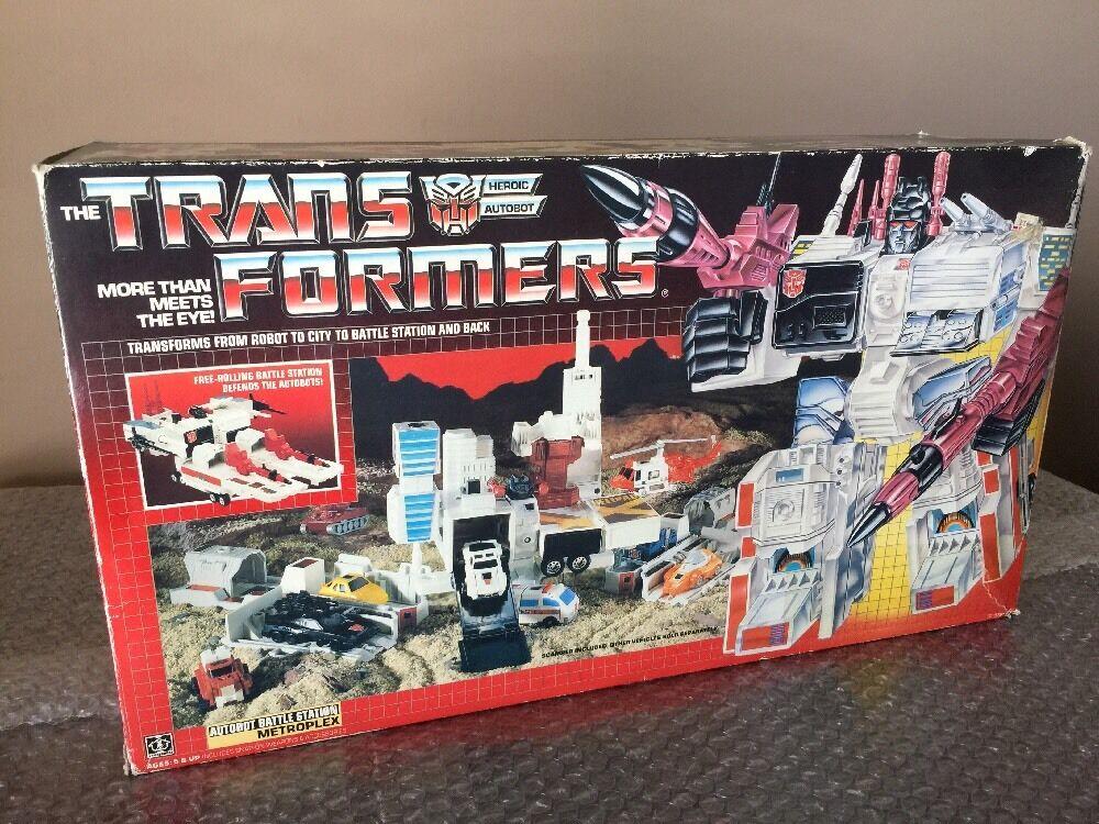 Transformers Vintage  G1 1985 Hasbro Autobot Metroplex avec boite inutilisées Autocollant  meilleurs prix et styles les plus frais