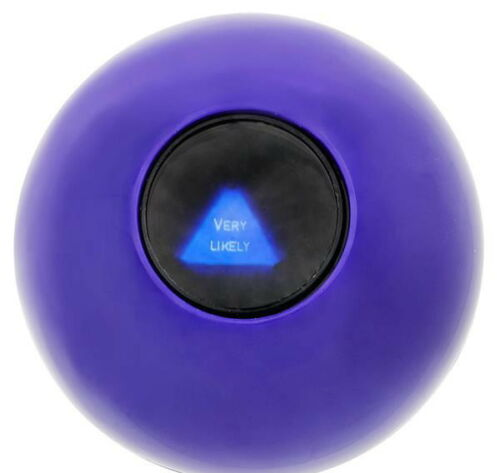 WHOLESALE LOT OF 6 MAGIC ORB BALL EIGHT 8  BALL ANSWERS QUESTIONS PARTY GAME