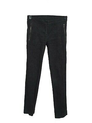 Black Coated Cotton Slim Fit Stretch Skinny Jeans Trousers Uk Sizes 6 Eu 34