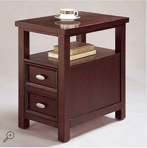 Brand New Dempsey Accent Wood Chair Side Table with One Drawer in Cherry Finish