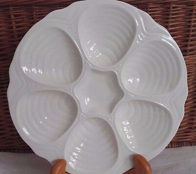 Hall Ceramics Oyster Clam Seafood Plate 10.5 inch Vintage Restaurant ware 6 Well