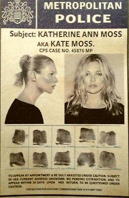 Kate moss arte mapa postal no firmado