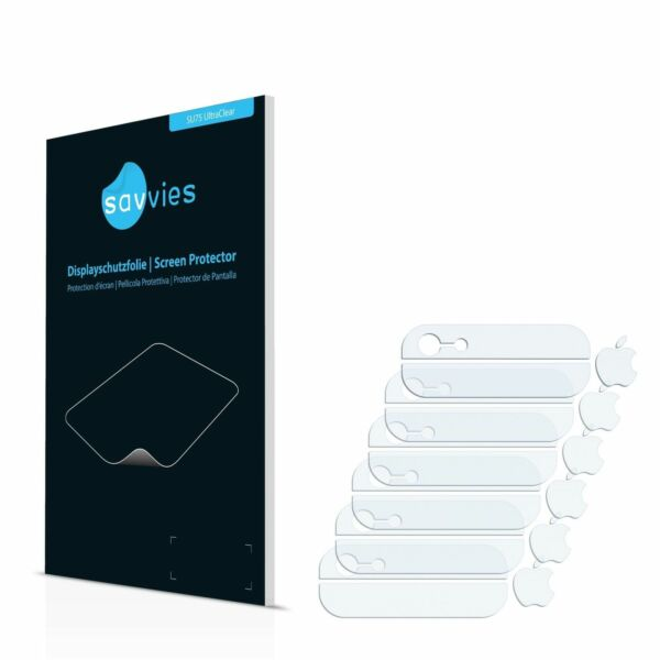 Apple iPhone 5 - Logo & Edges, 6 x Transparent ULTRA Clear Screen Protector