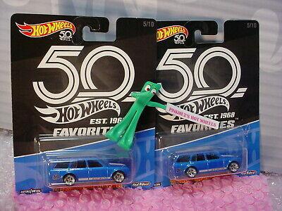 Hot Wheels 2018 Favorites 71 Datsun Bluebird 510 Wagon azul real Riders