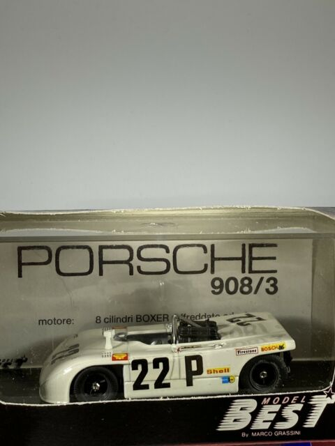Best Models Diecast 9032 Porsche 908/3 White Nurburgring 1 43 Scale Boxed