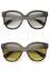 "Oversized Cat Eye /""VITA/"" Paradis Large Big Kat WaYfe Square Women Sunglasses XL"