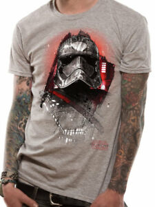 Star-Wars-The-Last-Jedi-Captain-Phasma-Official-Unisex-Grey-T-Shirt-Mens-Womens