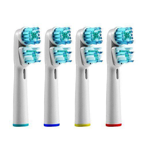 NUOVO orale doppia azione b Compatibili Spazzolino Elettrico Testine di ricambio NUOVO con confezione