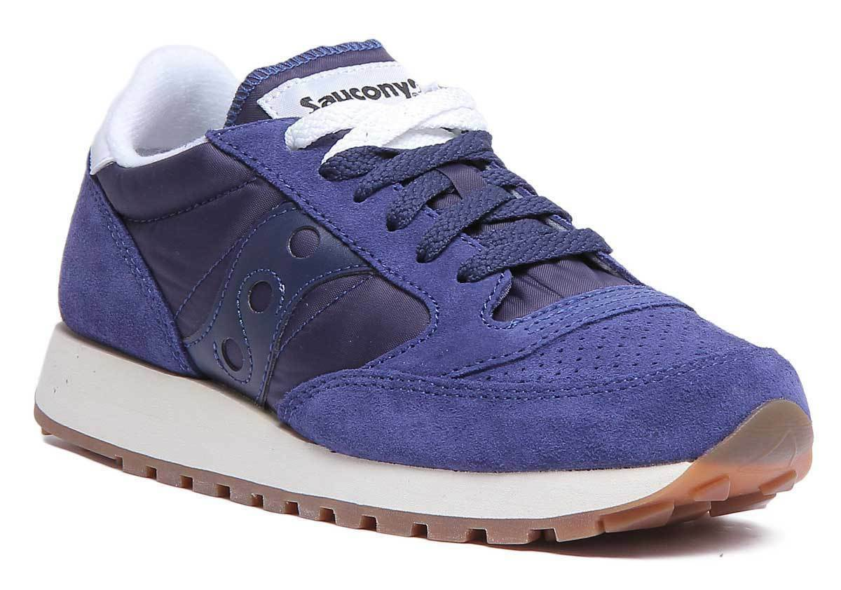 Saucony Jazz Original femmes Navy and blanc Suede Mesh Trainers UK Taille 3 - 8