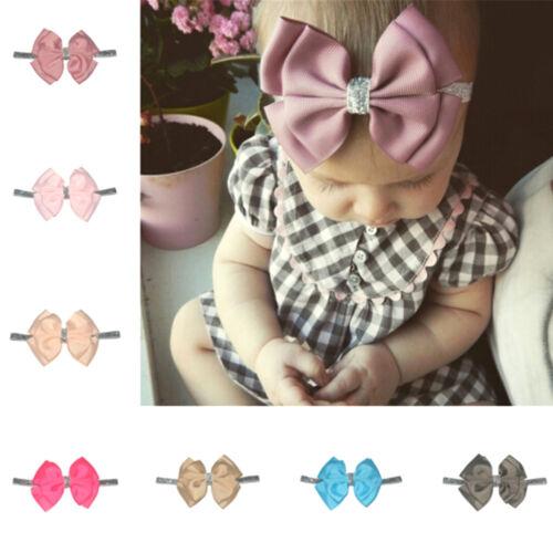 Baby Girls Kleinkind newborn Big Stirnband Kopfbedeckungen Hair BowAccessoiresJY