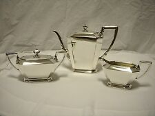 GORHAM FAIRFAX 3 PIECE STERLING SILVER TEA SET ~ GORGEOUS AND PROBLEM-FREE