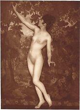 1920's Vintage German Female Nude Model Art Deco Schieberth Photo Gravure Print