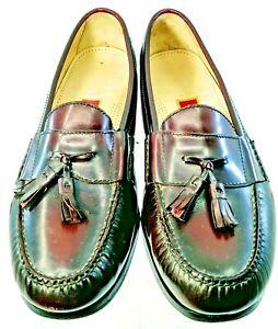 Cole Haan Pinch Tassel Loafer Men's Sz 13 D Burgundy Leather Slip On Dress Shoes