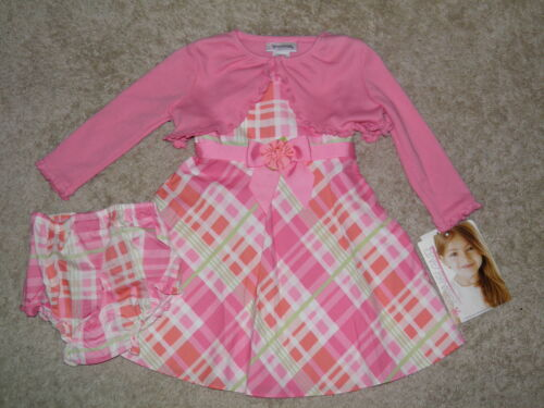 YOUNGLAND 3pc Spring Dress/Cover/Bloomers Size 24mos~ NEW!