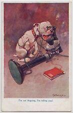 "POSTCARD - G E Studdy, Bonzo dog, old telephone, ""I'm Not Arguing"" RPS #1002"
