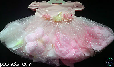 Pink Christening Pageant Flower Girl Wedding Bridesmaid Easter Party Dress 0-24m