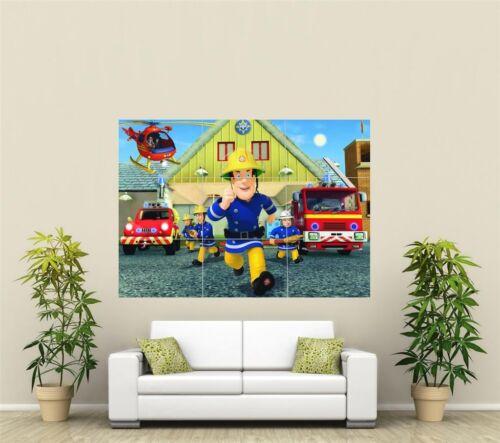 Fireman Sam Giant XL Section Wall Art Poster KR126