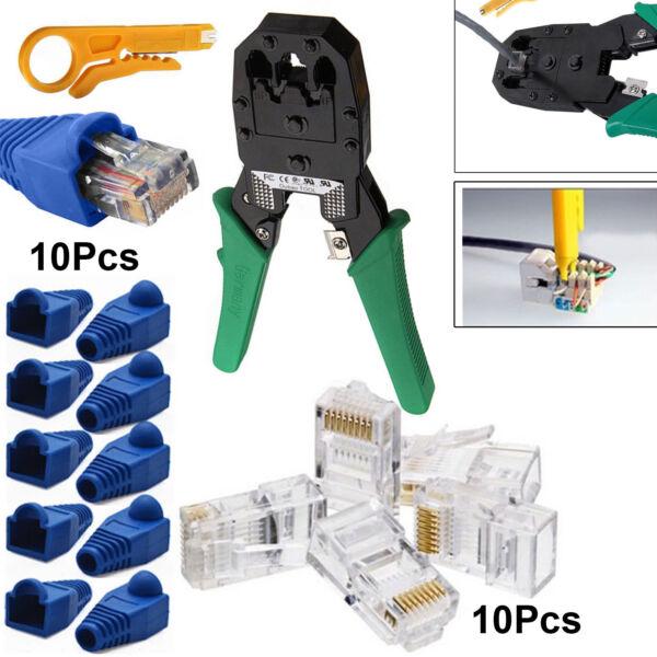 Dapper Rj11 Rj45 Ethernet Network Cat6 Cat7 Cable Crimping Tool Stripper Boot Connector Aantrekkelijk Uiterlijk