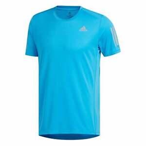 Adidas-Performance-Para-Hombre-propio-la-carrera-T-Shirt-azul