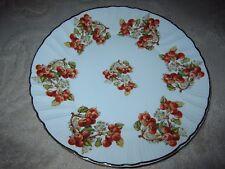 Vintage souvenir plate, Cister San Andres de Arroyo Palencia Spain, red berries