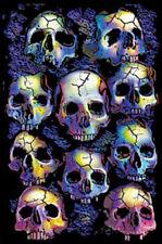Wall of Skulls Blacklight Art Poster Print Blacklight Poster Print, 24x36