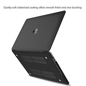 brand new 93b73 db7fe Details about Apple MacBook Pro 13 15 inch Touch Bar 2018 Slim Rubberized  Hard Case Cover Skin