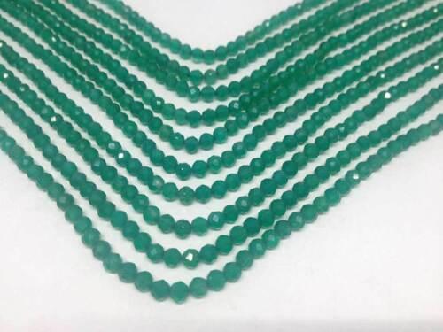"""Verdes de ónix facetas granos 15/"""" 3mm Full Strand 118 granos de calidad AAA-BF913"""