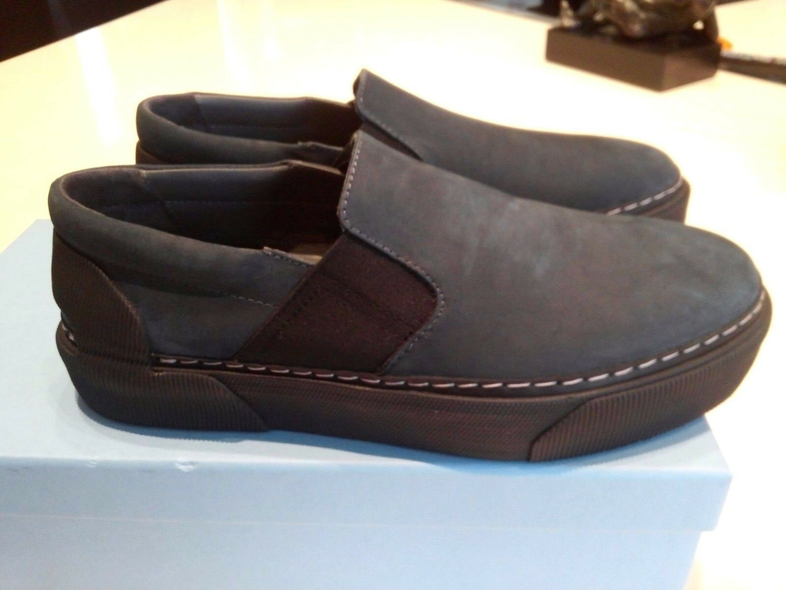 LANVIN NUBUCK SLIP ON MEN'S SNEAKER SHOES US 9 NEW IN BOX