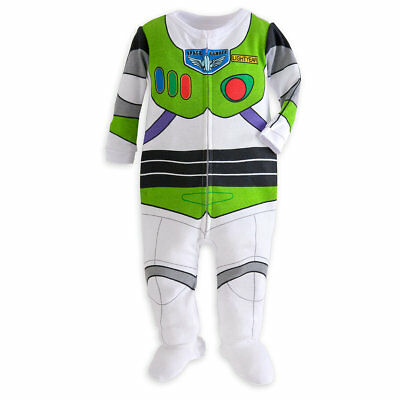 Disney Store Buzz Lightyear Footed Costume Pajamas Infant