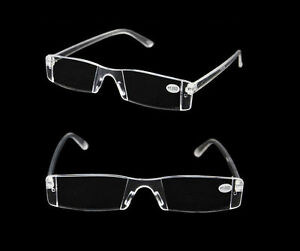 3350b3b934 New Presbyopia 1.00-4.00 Diopter Eyeglasses Clear Rimless Reading ...
