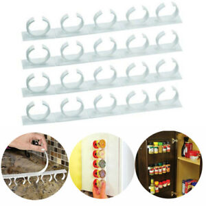 Kitchen-RV-Spice-Gripper-Clip-Strip-20-Jar-Rack-Storage-Holder-Wall-Cabinet-Door