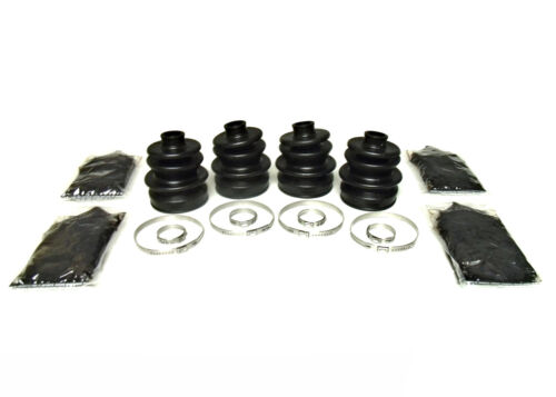 1998-2008 Arctic Cat 400 4x4 Set of Front Axle Inner /& Outer CV Boot Kits