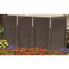 Suncast FSW4423 4 Panel Resin Wicker Outdoor Screen, New, Free Shipping