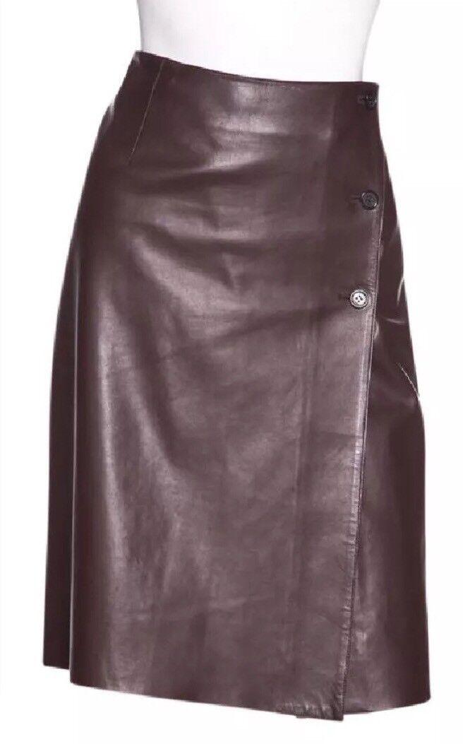 1,799 Prada Leather Skirt (Sz 40) US4 FLAW