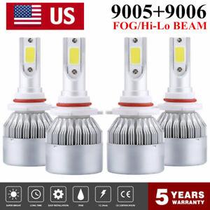9006-9005-Combo-LED-Headlight-3900W-630000LM-Hi-Lo-Beam-Kit-6000K-HID-Lamp-Power