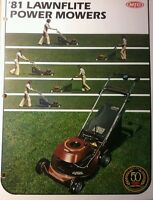 Mtd 1981 Lawn Garden Walk Behind Mowers Full Color Sales Brochure Manual 16pg
