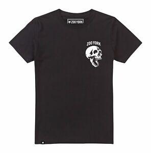 Mens-Zoo-York-Skeleton-Head-Skull-T-Shirt-Black-Street-Skate-Fashion