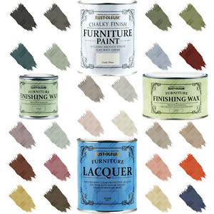 Rust Oleum Chalk Chalky Furniture Paint Wax Lacquer 125ml 750ml Free Returns