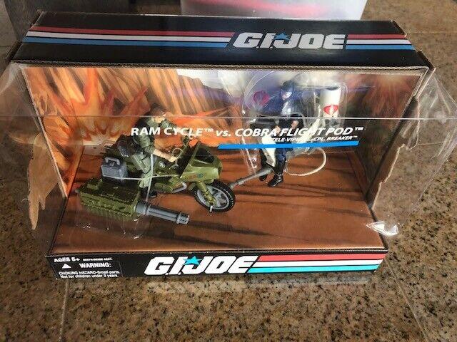 GI Joe  Ram Cycle vs. Cobra Flight Pod NIB TELE  VIPER BREAKER  25th annive
