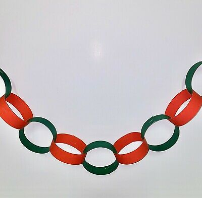 Made in England DR2 Union Jack Paper Chain 72 Gummed Strips approx 6m 18ft