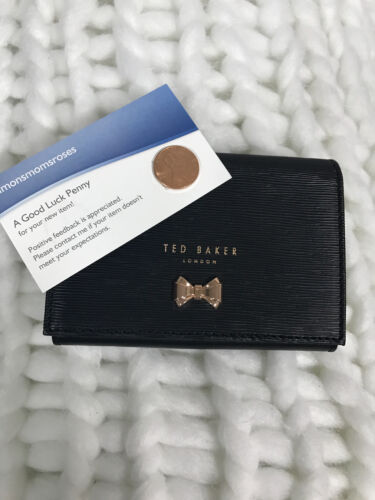 27f6e36dc0acc Authentic Ted Baker London Myah Bow Mini Wallet Black for sale online